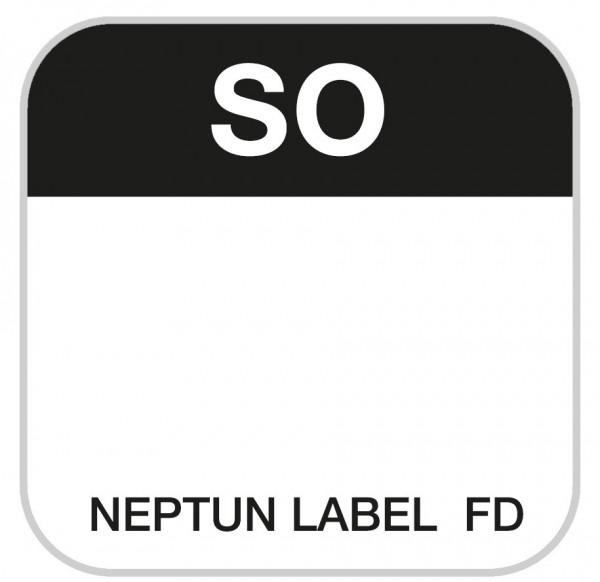 NEPTUN Label FD - eckig - 25 mm, 500 Etiketten pro Rolle